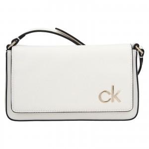 Dámska crossbody kabelka Calvin Klein Brian - bíela
