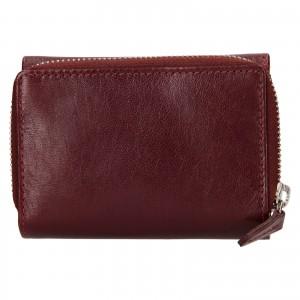 Dámska kožená peňaženka Lagen Laura - vínová
