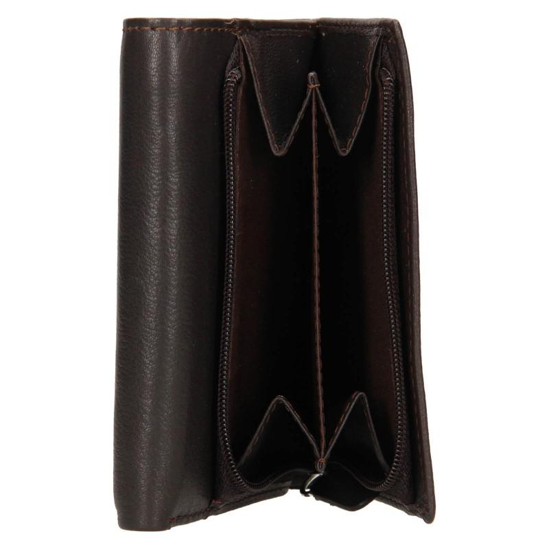 Dámska kožená peňaženka Lagen Kateřina - tmavo hnedá