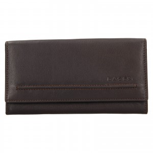 Dámska kožená peňaženka Lagen Ludmila - tmavo hnedá
