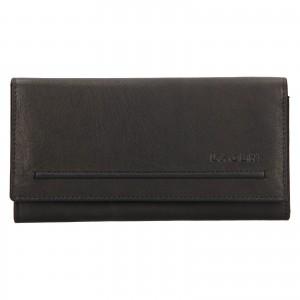 Dámska kožená peňaženka Lagen Ludmila - čierna