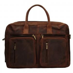 Pánska kožená taška Always Wild Austin - hnedá