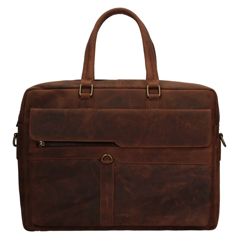 Pánska kožená taška Always Wild Alister - hnedá