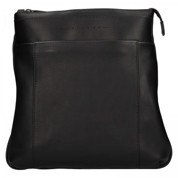 Luxusná kožená pánska taška Ripani Vodin - čierna