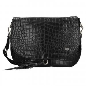 Luxusné dámske kožené crossbody Daag Kaija - čierna