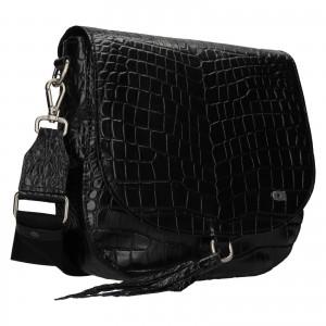 Luxusné dámske kožené crossbody Daag Kaila - čierna