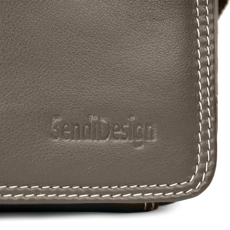 Pánska kožená taška cez rameno SendiDesign IG005 - hnedá