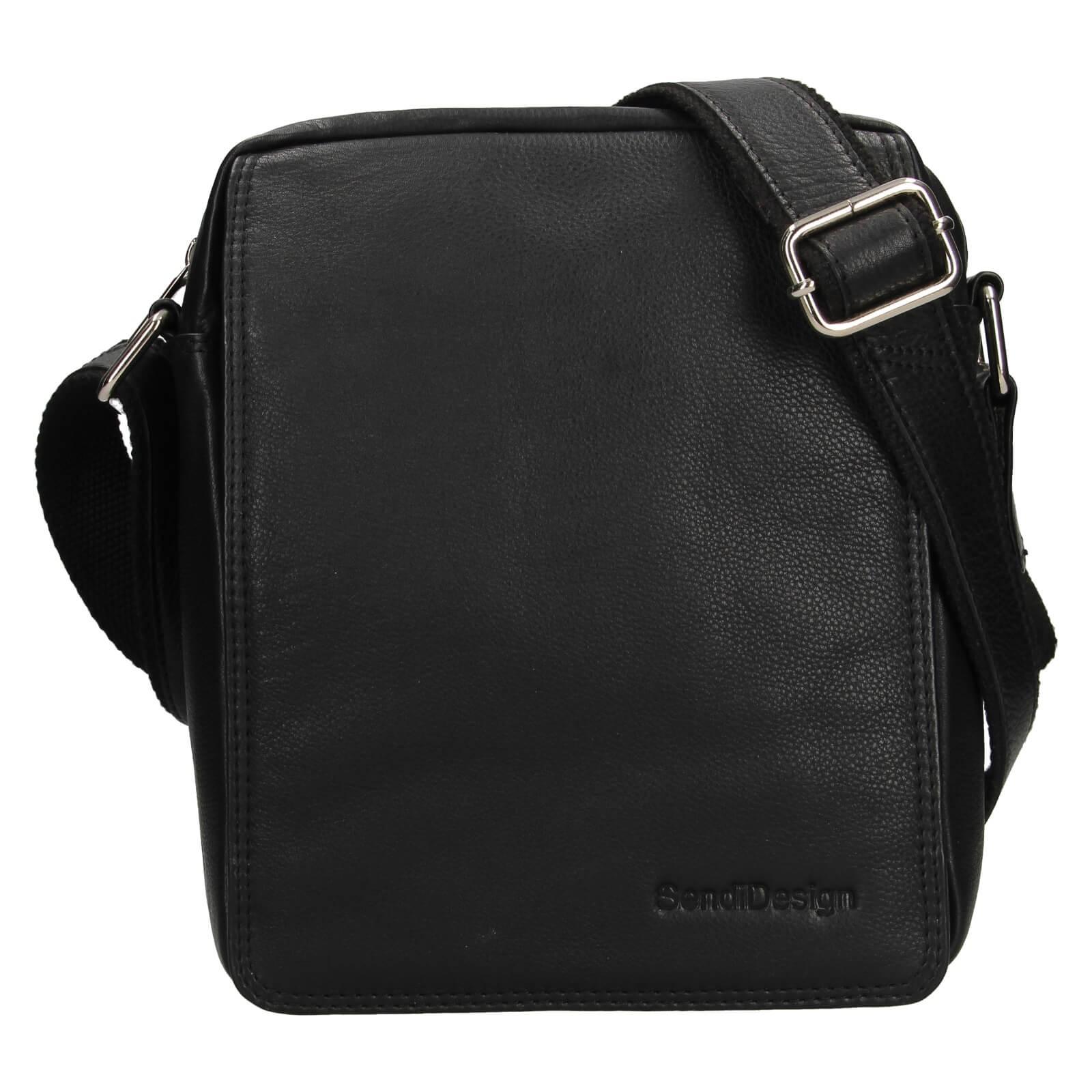 Pánská kožená taška přes rameno SendiDesign Dens - čierna