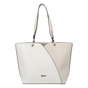 Dámska kabelka David Jones Aline - bielo-krémová