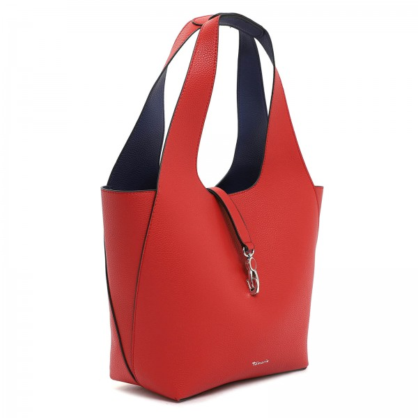 Dámska 2v1 kabelka Tamaris Cordula - červeno-modrá