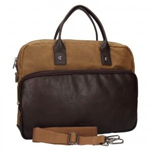 Pánska pracovná taška Lerros Harry - koňak
