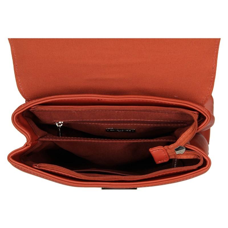 Módny dámsky batôžtek David Jones Vojtiška - oranžovo-hnedá