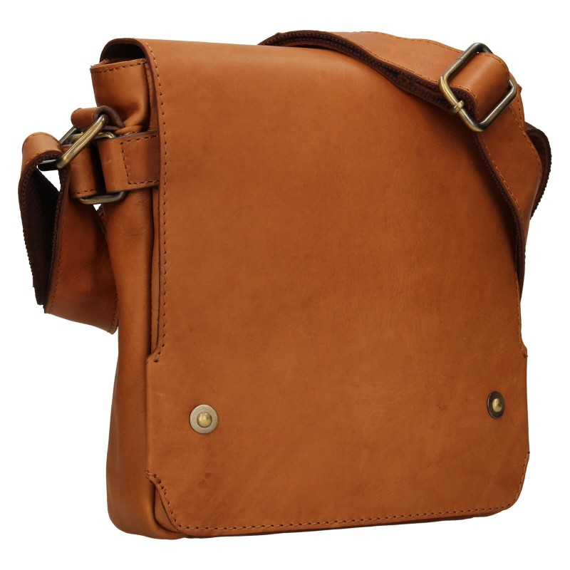 Pánska kožená taška cez rameno Lagen Maros - koňak