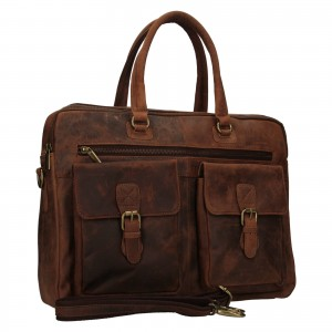Pánska kožená taška Always Wild Oswald - hnedá