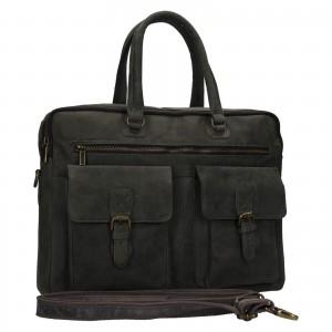Pánska kožená taška Always Wild Oswald - čierno-šedá