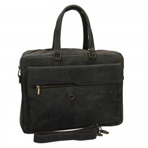 Pánska kožená taška Always Wild Alister - čierno-šedá