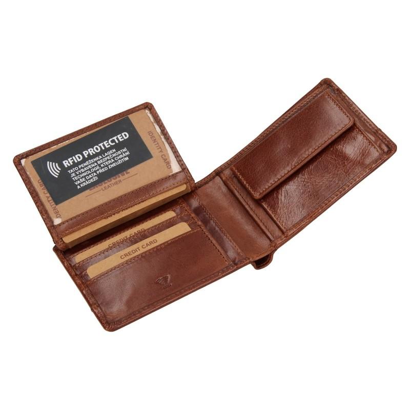 Pánska kožená peňaženka Lagen Lorenc - koňak