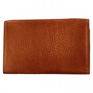 Dámska kožená slim peňaženka Lagen Mellba - koňak