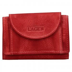Dámska kožená slim peňaženka Lagen Mellba - červená