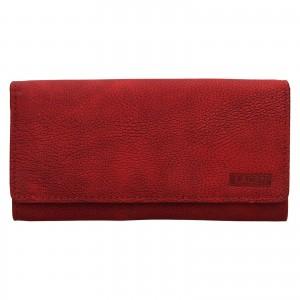 Dámska kožená peňaženka Lagen Inge - červená