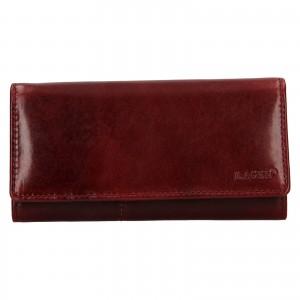Dámska kožená peňaženka Lagen Inge - tmavo červená
