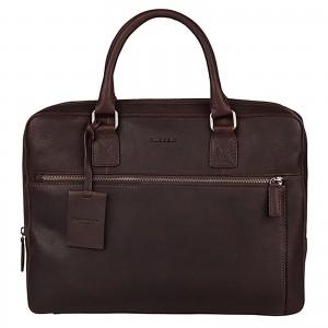 Pánska kožená taška na notebook Burkely Laptop - tmavo hnedá