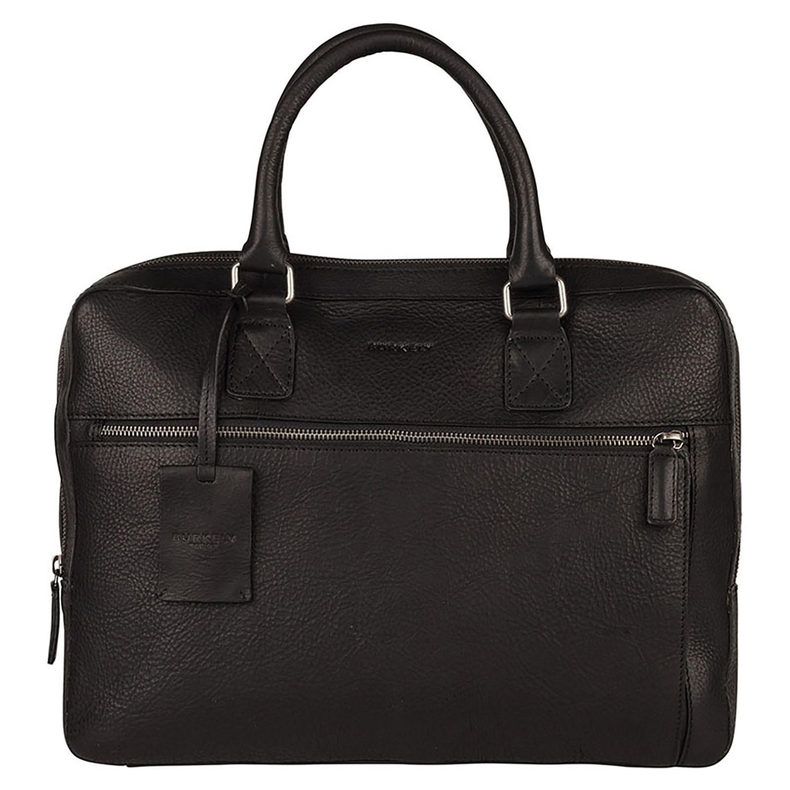 Pánska kožená taška na notebook Burkely Laptop - čierna