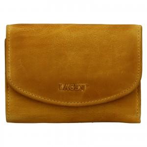 Dámska kožená peňaženka Lagen Julie - žltá