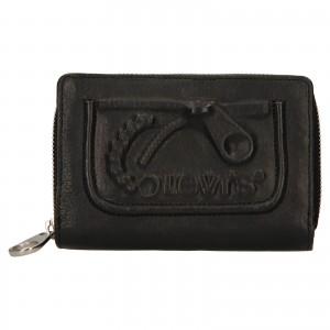 Dámska kožená peňaženka Levi's Emma - čierna