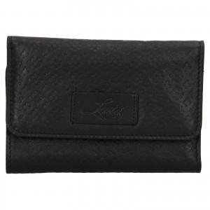 Dámska kožená peňaženka Levi's Olivia - čierna