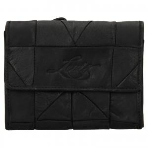 Dámska kožená peňaženka Levi's Ella- čierna