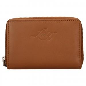 Dámska kožená peňaženka Levi's Harper - hnědá