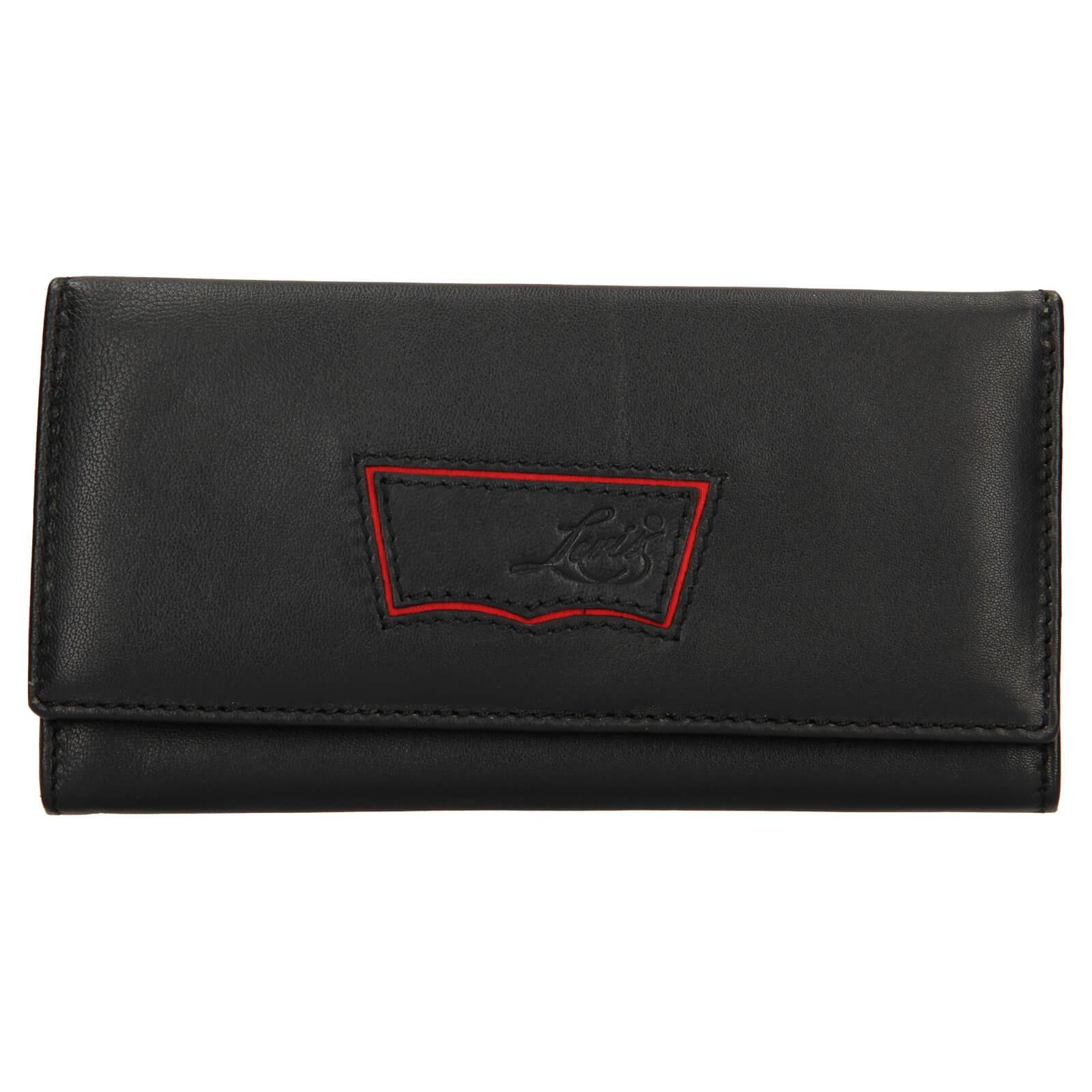 Dámska kožená peňaženka Levis Madison - čierna.