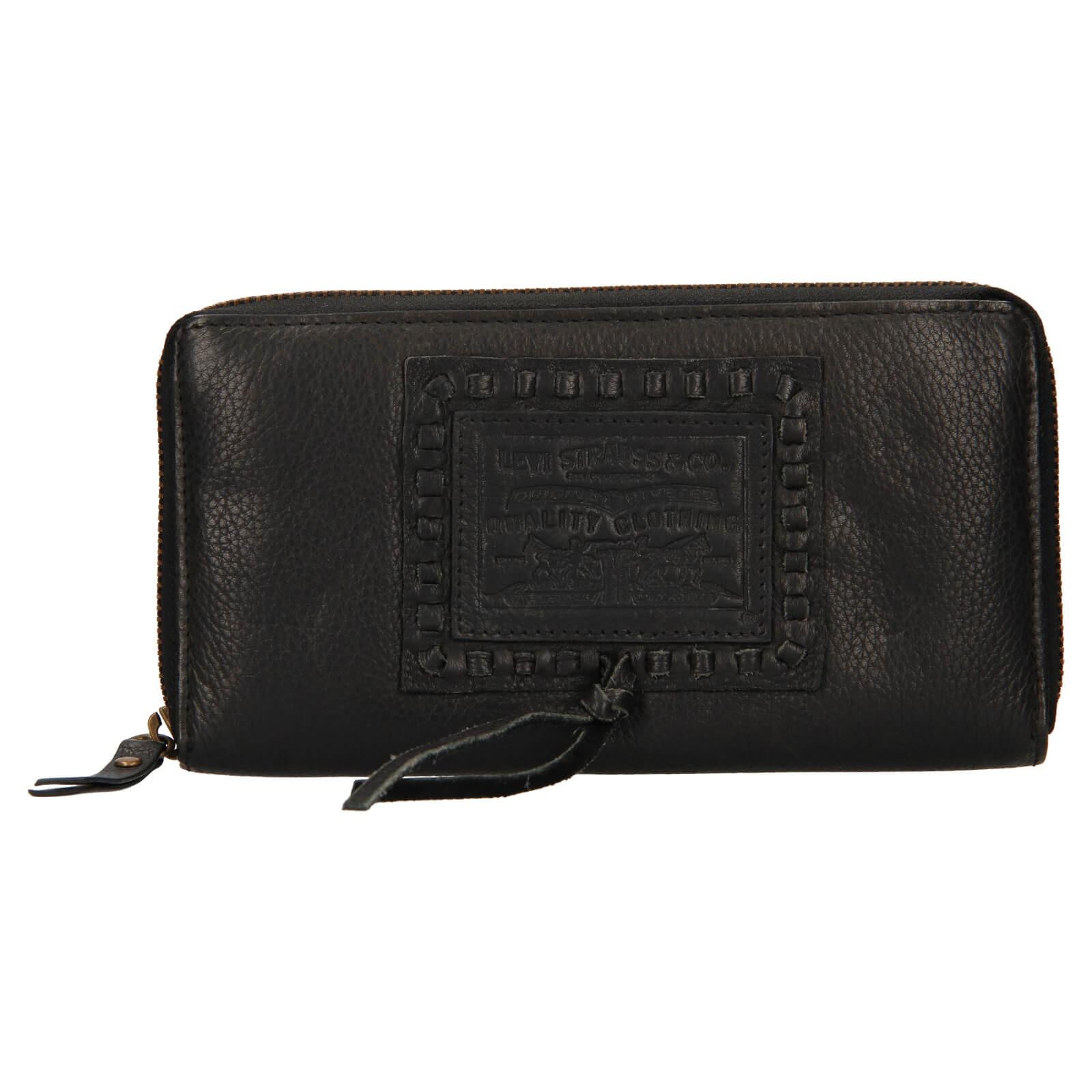 Dámska kožená peňaženka Levis Sofia - čierna.