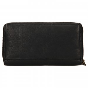 Dámska kožená peňaženka Levi's Sofia - čierna