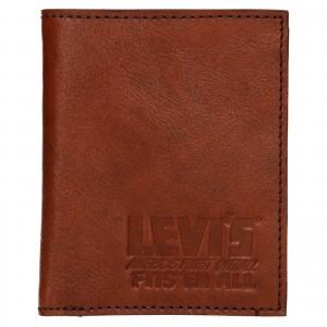 Pánska kožená peňaženka Levi's Alexander - hnedá