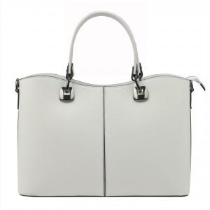 Dámska kožená kabelka Vera Pelle Sara - biela
