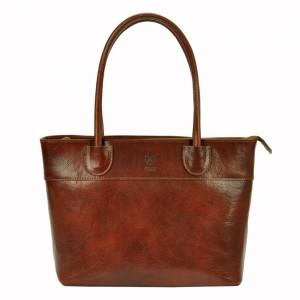 Dámska kožená kabelka Vera Pelle Alessia - hnedá
