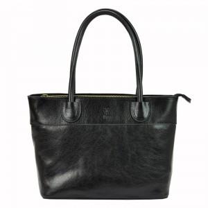Dámska kožená kabelka Vera Pelle Alessia - čierna