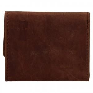 Pánska kožená peňaženka Levi's Etham - hnedá