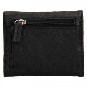 Dámska kožená peňaženka Levi's Victoria - čierna