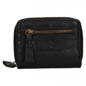 Dámska kožená peňaženka Levi's Mia - čierna
