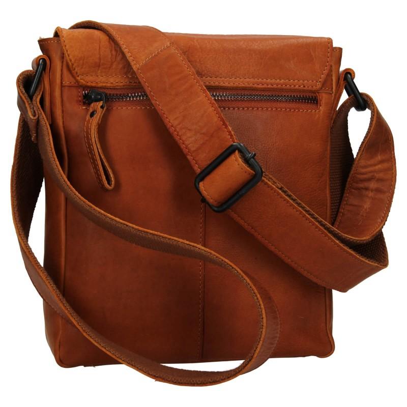 Pánska kožená taška cez rameno Mustang Arthur - koňak