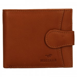 Pánska kožená peňaženka Mustang Michael - koňak
