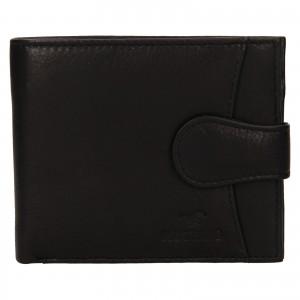 Pánska kožená peňaženka Mustang Michael - čierna