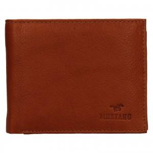 Pánska kožená peňaženka Mustang David - koňak