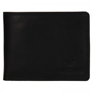 Pánska kožená peňaženka Mustang Filip - čierna