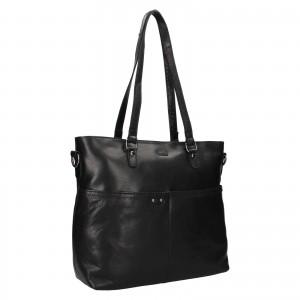 Dámska kožená kabelka Justified Market - čierna