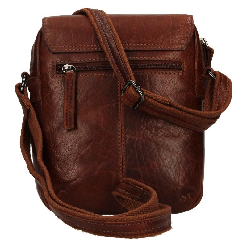Pánska kožená taška cez rameno Justified Libor - koňak