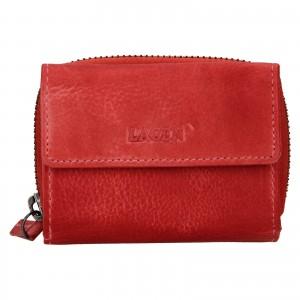 Dámska kožená peňaženka Lagen Carmena - červená